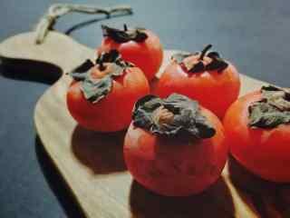 文艺的柿子之秋季养生桌面壁纸