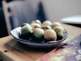 文艺的美食之冬枣桌面壁纸