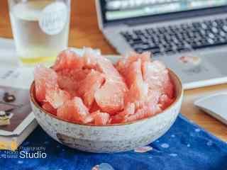秋季养生美食之柚子桌面壁纸
