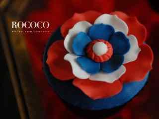 翻糖蛋糕创意花卉蛋糕桌面壁纸