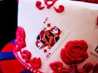 翻糖蛋糕创意扑克洋气桌面壁纸