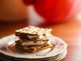 饼干苏打奶油夹心饼干桌面壁纸