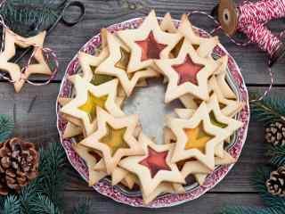 饼干星星果酱饼干桌面壁纸