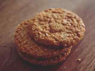 饼干曲奇双层巧克力香甜浓郁桌面壁纸