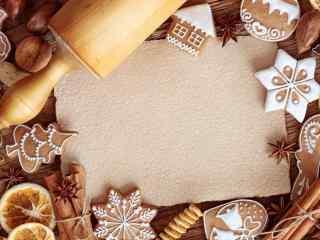 饼干创意花式饼干造型桌面壁纸