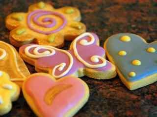饼干花式奶油巧克力饼干桌面壁纸