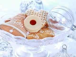 饼干创意草莓夹心果酱饼干香浓可口桌面壁纸