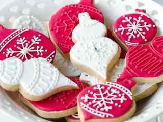 饼干创意草莓奶油巧克力饼干桌面壁纸