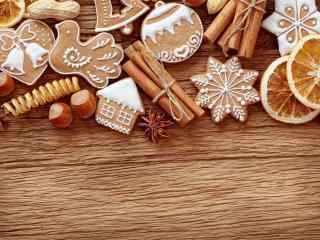 饼干创意圣诞节饼干桌面壁纸