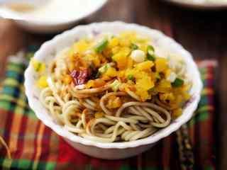 精致小吃武汉热干面高清美食壁纸