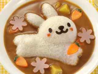 可爱小兔子便当桌面壁纸
