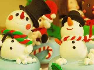 小雪人糖果美食壁纸