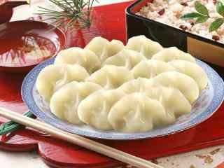 唯美的饺子图片美食壁纸