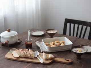 特色西式营养早餐唯美简约图片