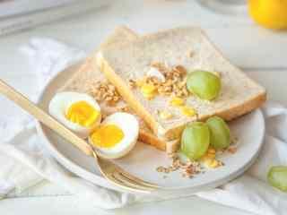 营养西式早餐小清新图片高清美食壁纸