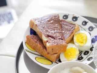 特色小面包清新早餐图片高清桌面壁纸