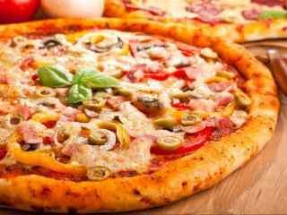 小清新披萨图片桌面壁纸