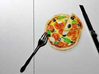 披萨创意手绘图片高清桌面壁纸