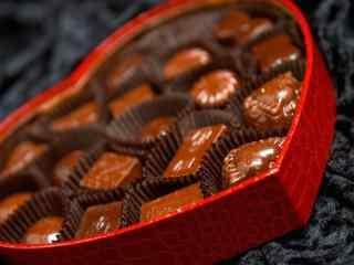 爱心巧克力情人节