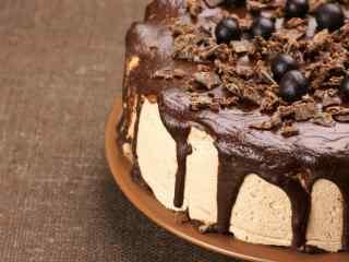 美味巧克力蛋糕创意摄影图片