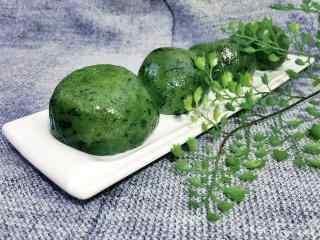 清明节习俗-美食青团桌面壁纸