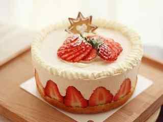 可口的草莓蛋糕桌面壁纸