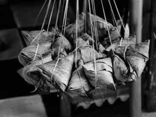 端午节粽子黑白摄影壁纸