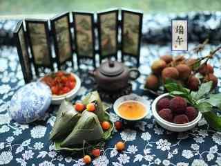 端午节之美食粽子文艺壁纸