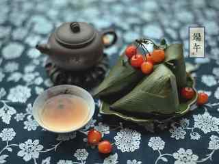 小清新端午节粽子美食壁纸