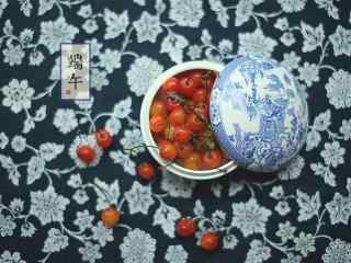 端午节美食之樱桃桌面壁纸