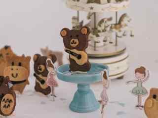 儿童节礼物可爱动物饼干壁纸