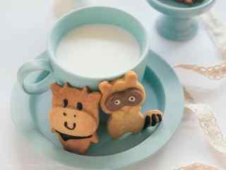 儿童节礼物之可爱的动物饼干壁纸