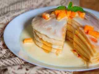 香浓的芒果蛋糕桌面壁纸