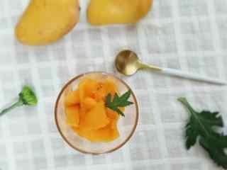 可口好吃的大芒果桌面壁纸