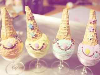小清新美食冰淇淋桌面壁纸