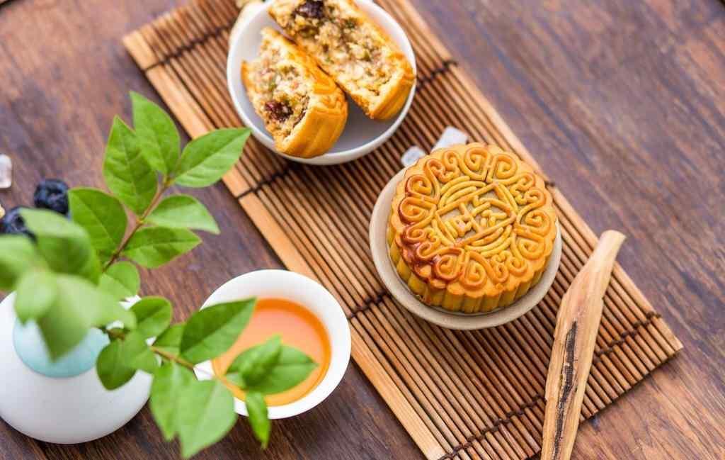 中秋节美食之豆沙月饼壁纸