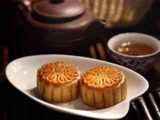 中秋节美食之月饼桌面壁纸