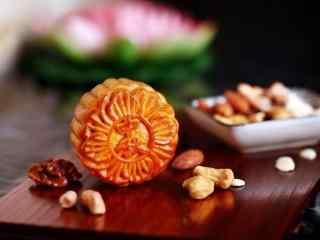 中秋节美食之中秋月饼壁纸