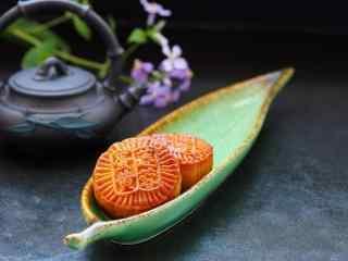 中秋节美食之月饼唯美壁纸