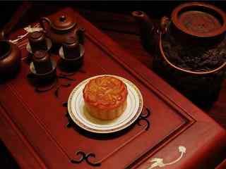中秋节美食之月饼海报壁纸