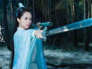 诛仙青云志之杨紫夜晚练剑桌面壁纸