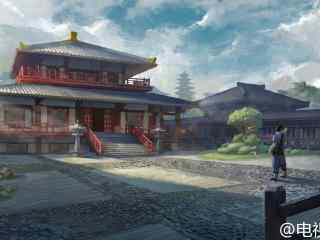九州海上牧云记场景图设计藏剑阁外桌面壁纸