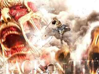 进击的巨人真人电影版艾伦对战超大型巨人桌面壁纸