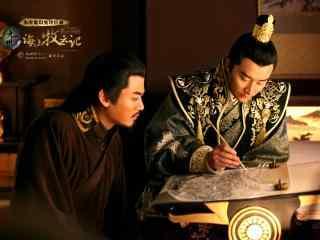 九州海上牧云记电视剧照牧云笙读书写字桌面壁纸