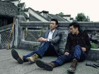 胭脂影視劇照周宇浩和宋勉在橋上躲避桌面壁紙