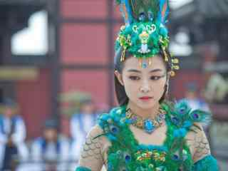 兰陵王妃元清锁跳舞时候穿的孔雀装桌面壁纸