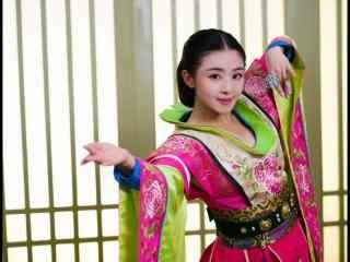 兰陵王妃元清锁牡丹少女装桌面壁纸