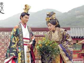 思美人剧照楚威后和楚怀王后花园赏花桌面壁纸