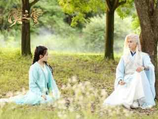 轩辕剑之汉之云剧照耶亚希和暮云在树下谈天桌面壁纸