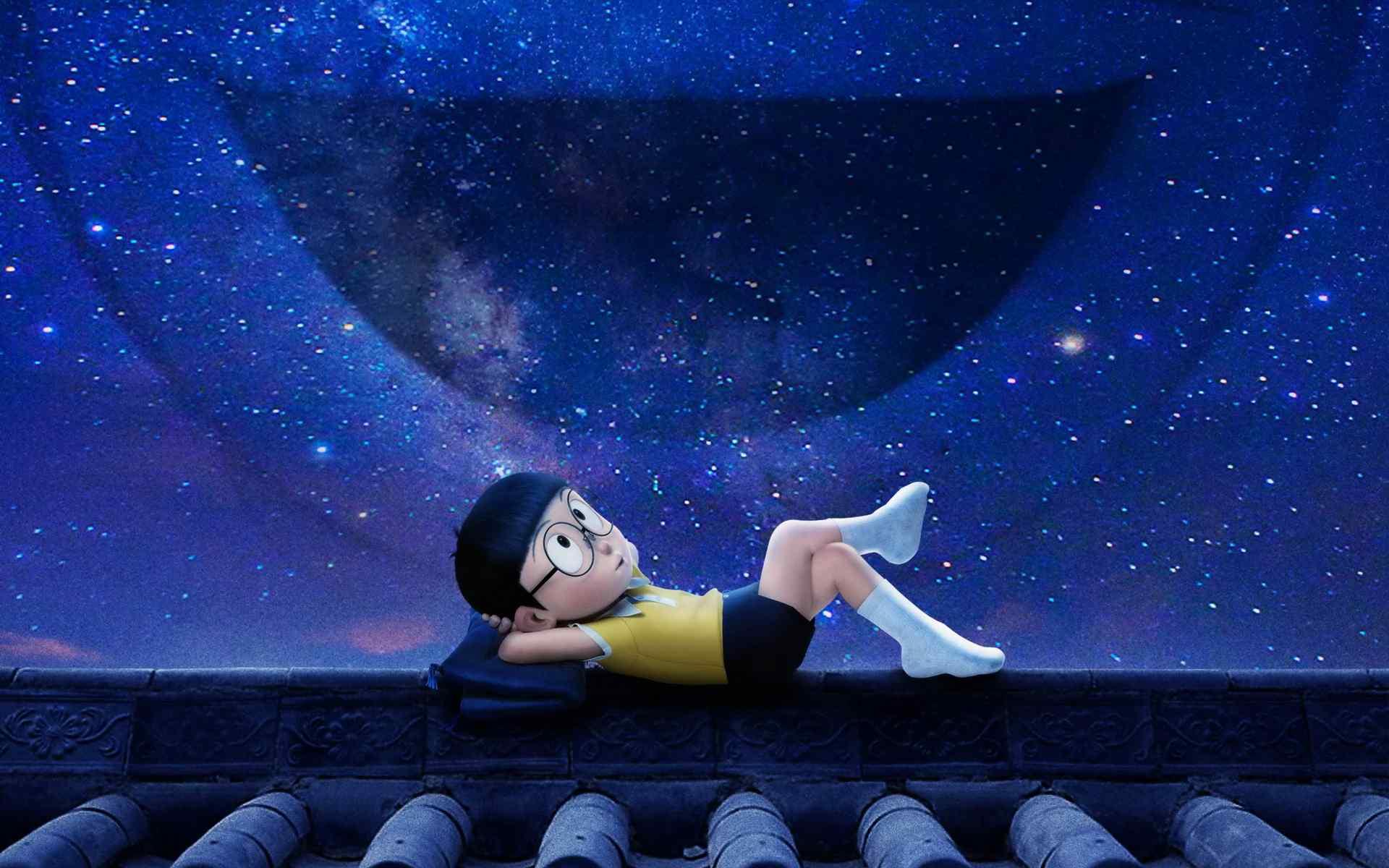 同行 大雄仰望夜晚星空影视高清壁纸